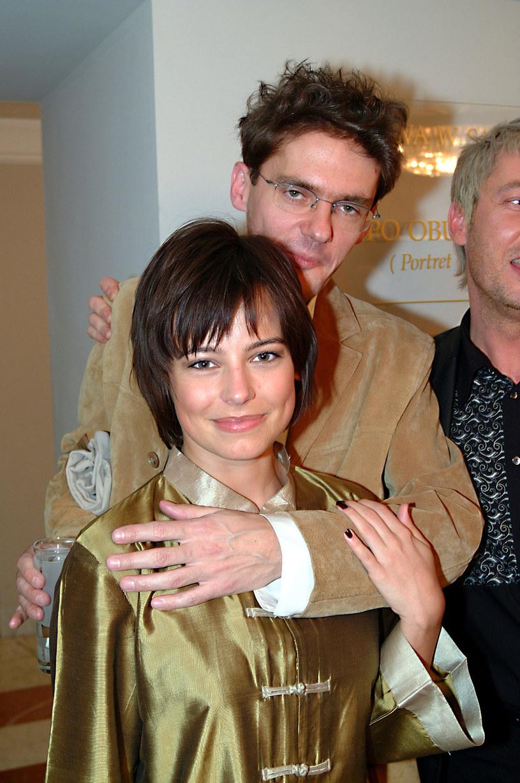 Anna Mucha i Kuba Wojewódzki, 2003 rok /Prończyk /AKPA