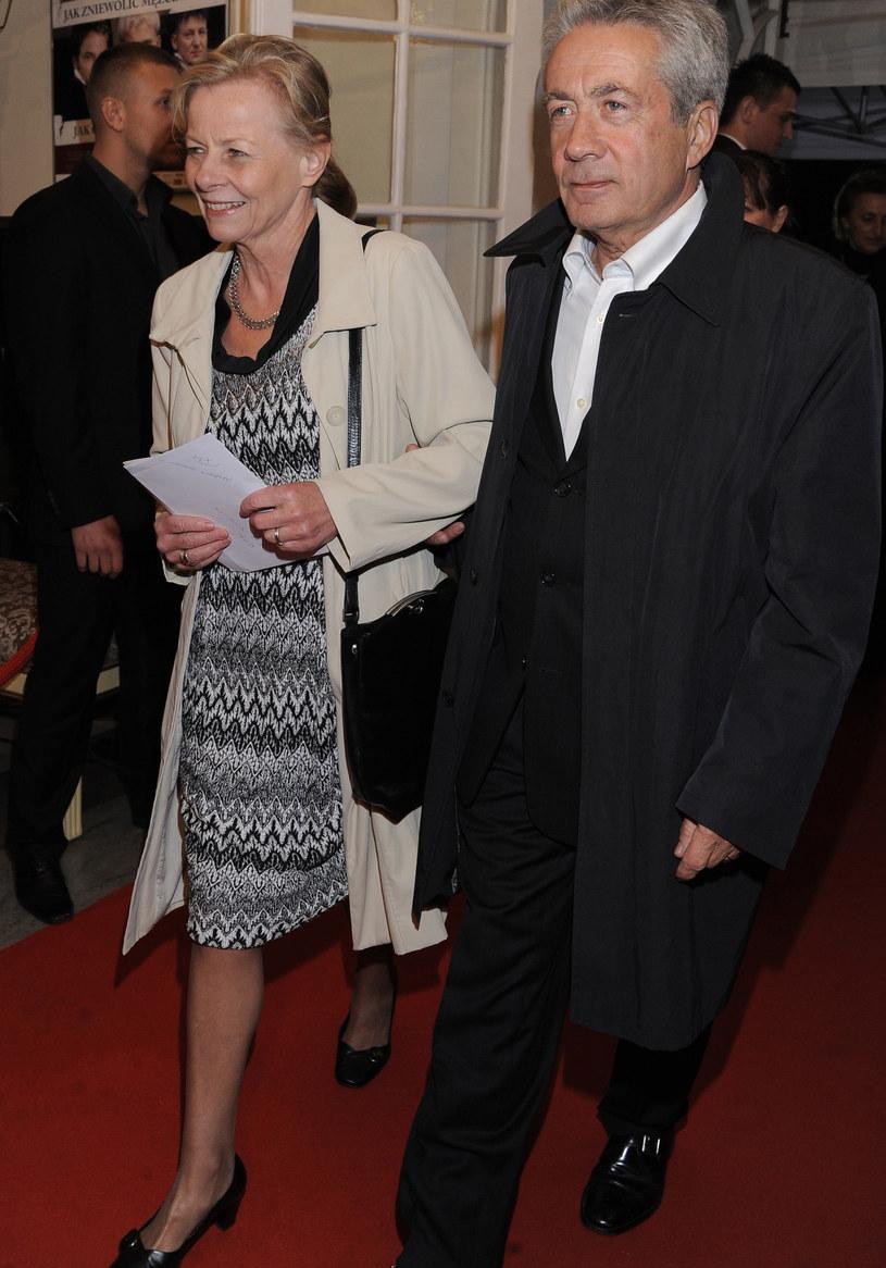 Anna Nehrebecka z mężem /Tomasz Szamot /MWMedia