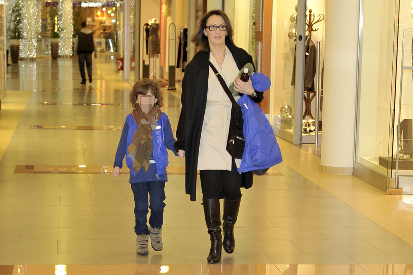 Anna Nowak-Ibisz z synem Vincentem, 2011 rok /Kurnikowski /AKPA