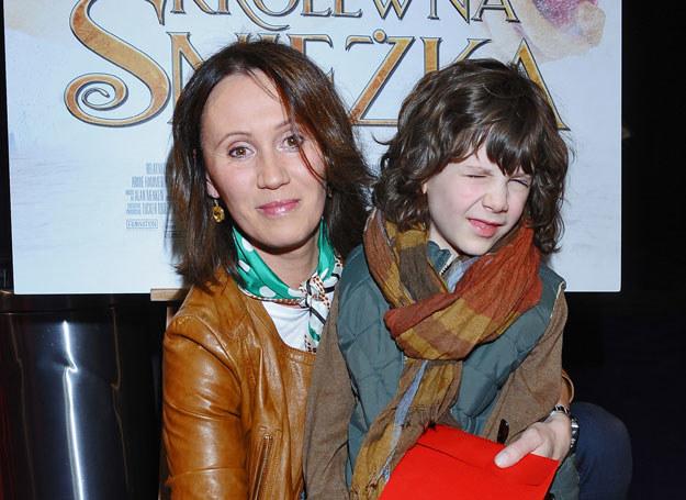 Anna Nowak-Ibisz z synem /A. Szilagyi /MWMedia