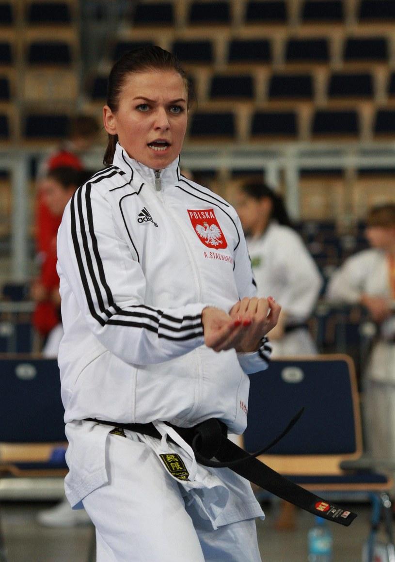 Anna podczas mistrzostw w karate /Kamil Jóźwiak /Newspix