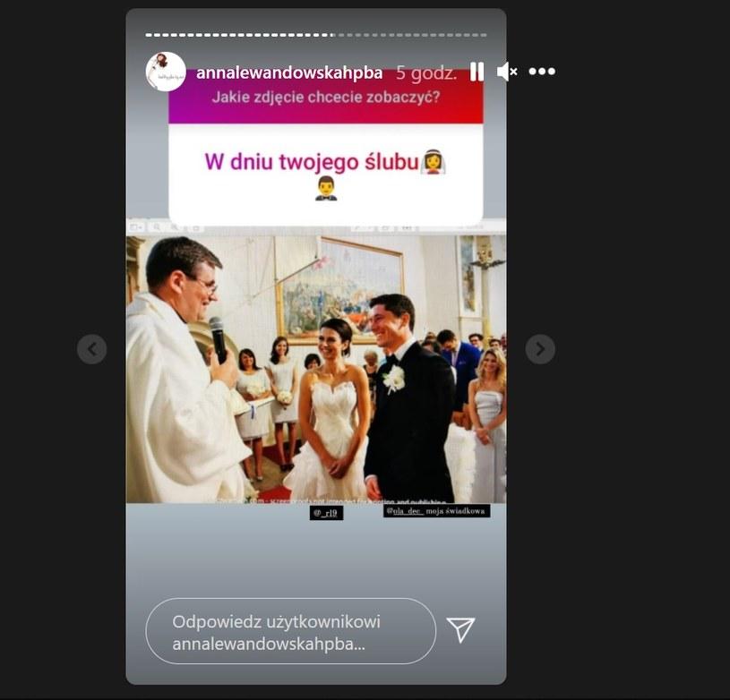 Anna podzieliła się też zdjęciem ze ślubu /Instagram