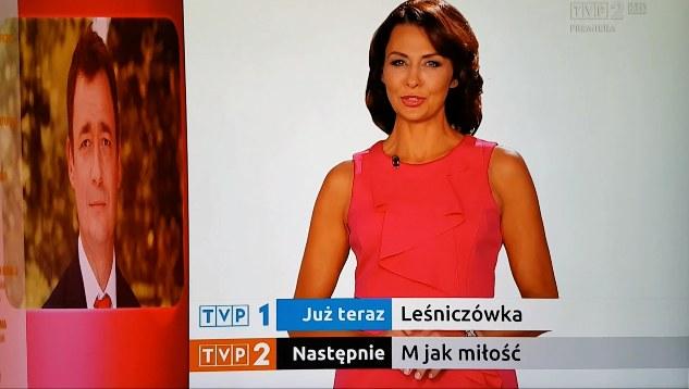 Anna Popek jako spikerka w TVP2 /materiały prasowe