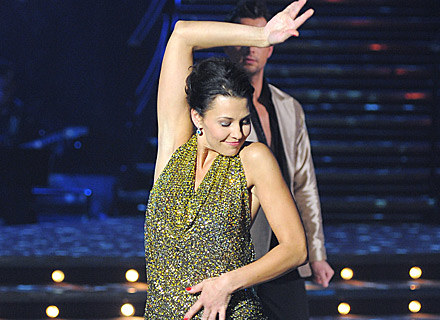 Anna Popek pięknie zatańczyła rumbę, ale odpadła z programu jako pierwsza, fot. Andrzej Szilagyi /MWMedia
