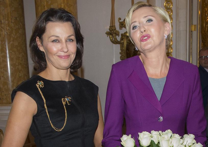 Anna Popek z Agatą Kornhauser-Dudą /Jacek Domiński /Reporter