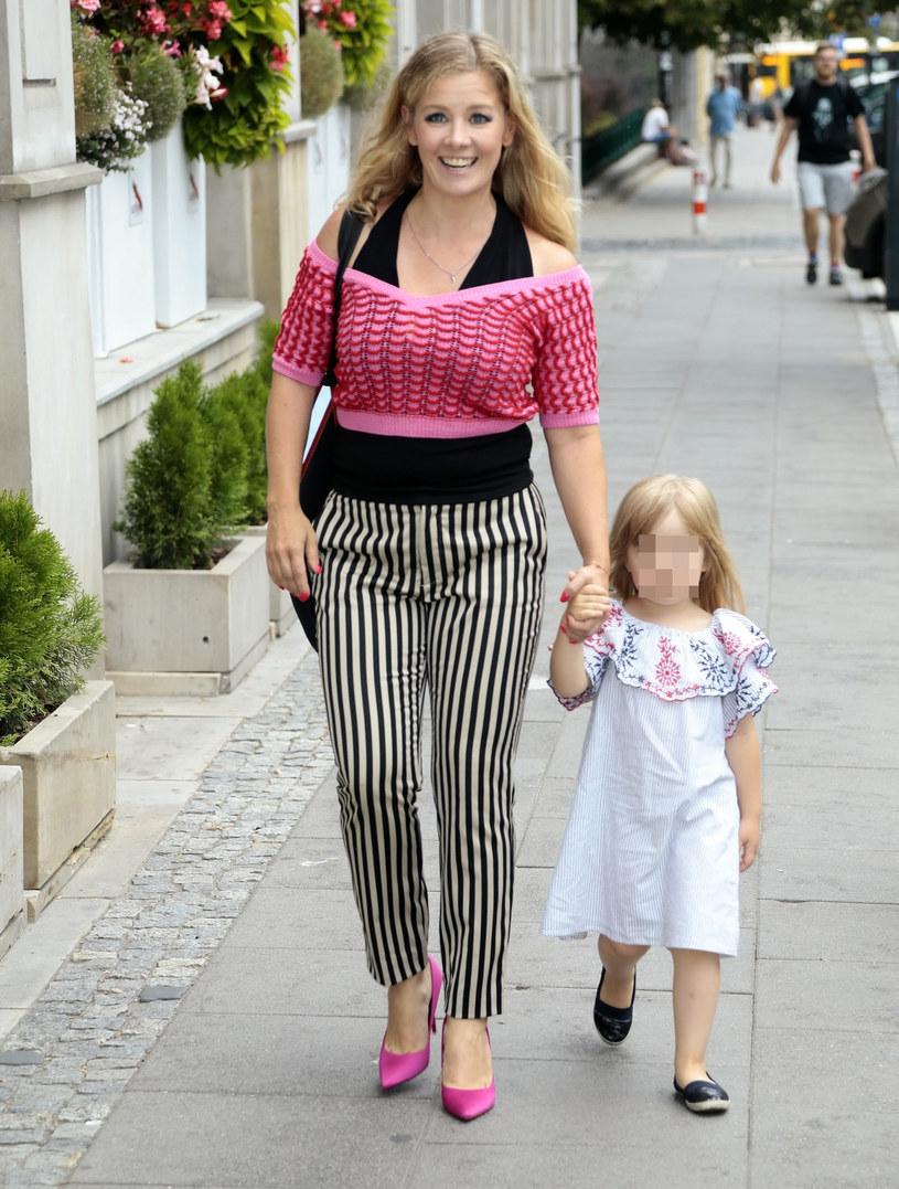 Anna Powierza z córką Heleną /Adam Jankowski/REPORTER /Reporter