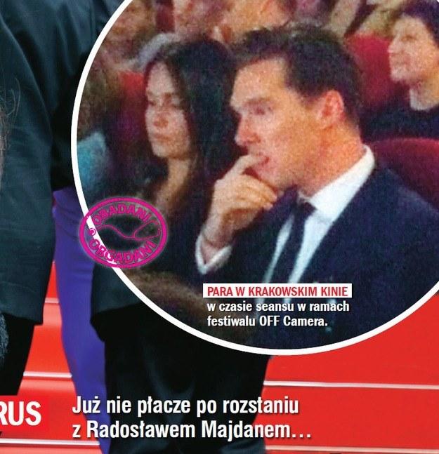 Anna Prus i Benedict Cumberbatch na festiwalu OFF Plus Camera /Rewia