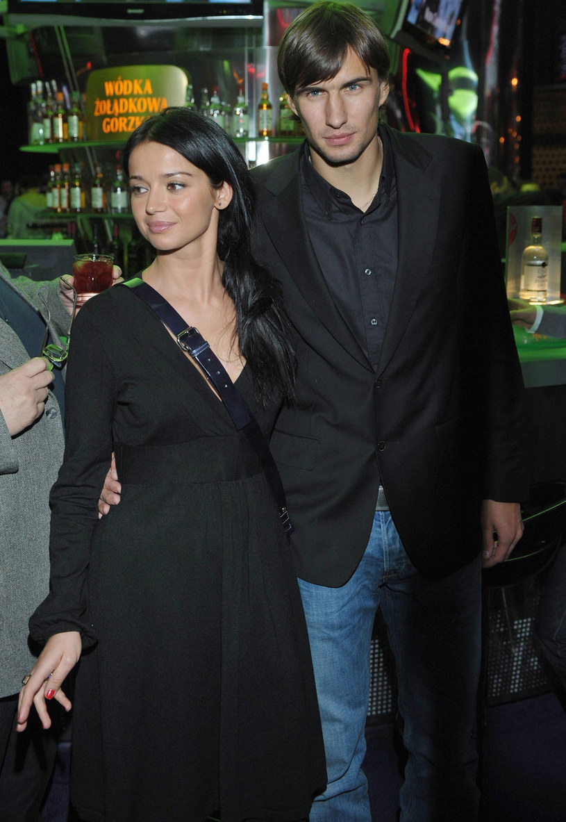Anna Przybylska i Jarosław Bieniuk, listopad 2008 r. /Piotr Fotek /Reporter