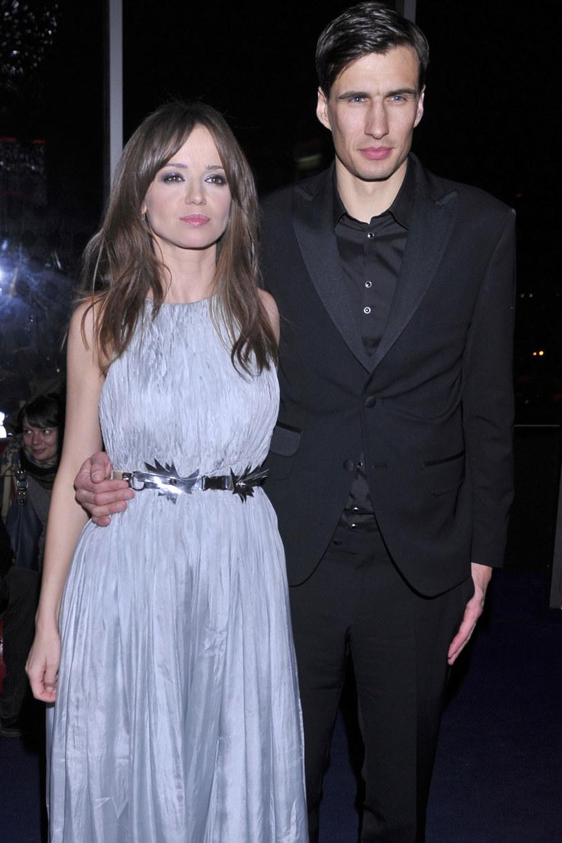 Anna Przybylska i Jarosław Bieniuk w 2013 roku /Kurnikowski /AKPA