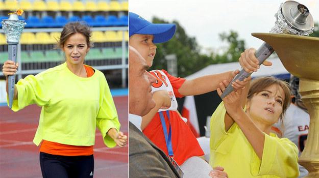 Anna Przybylska podczas Onko-Olimpiady /Agencja W. Impact