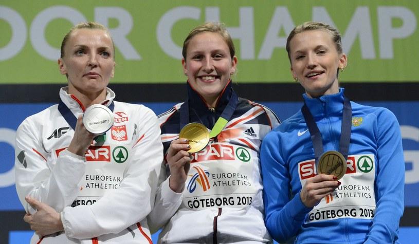Anna Rogowska, Holly Bleasdale i Andżelika Sidorova /AFP