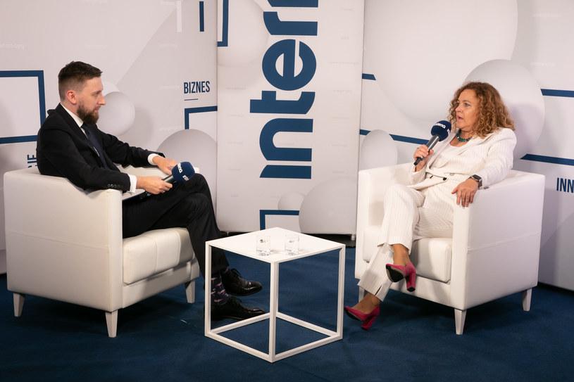 Anna Rulkiewicz, prezes Grupy Luxmed w studiu Interii /Fot. Ireneusz Rek /INTERIA.PL