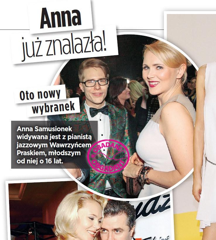 Anna Samusionek i Wawrzyniec Prasek na jednej z imprez /Show