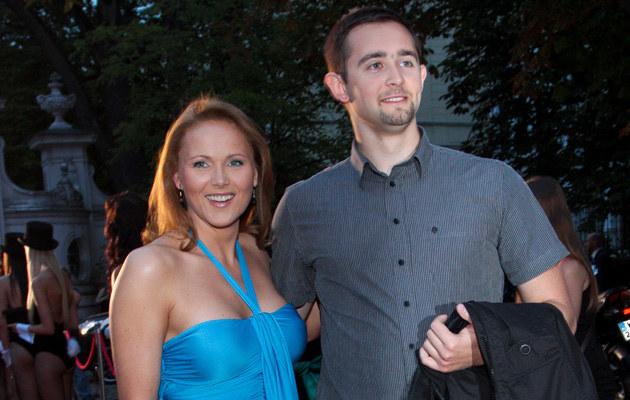 Anna Samusionek z partnerem, fot.Paweł Przybyszewski  /MWMedia