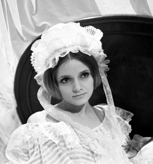 """Anna Seniuk w """"Księżniczce Mary"""", zdjęcie z października 1970 roku /Zygmunt Januszewki /PAP"""