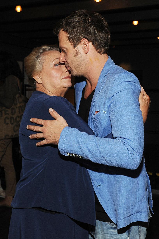 Anna Seniuk z synem, aktorem Grzegorzem Małeckim /AKPA
