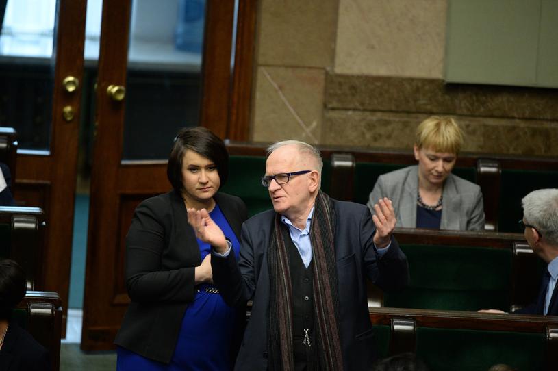Anna Siarkowska i Krzysztof Czabański podczas ostatniego posiedzenia Sejmu /Jan Bielecki /East News