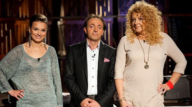 "Anna Starmach, Michel Moran i Magda Gessler w programie ""MasterChef"" /fot  /materiały prasowe"