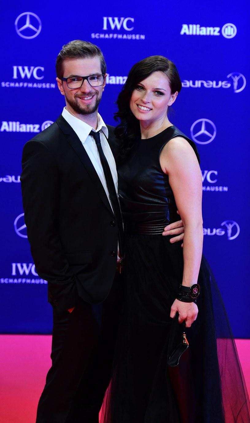 Anna Veith z mężem Manuelem /AFP