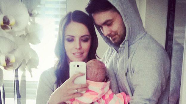 Anna Wendzikowska z partnerem i córką. /Instagram /internet