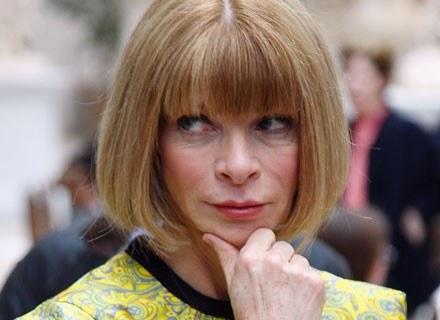Anna Wintour tym razem bez czarnych okularów... /Getty Images/Flash Press Media