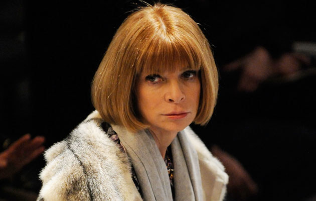 Anna Wintour w futrze, fot. Fernanda Calfat   /Getty Images/Flash Press Media