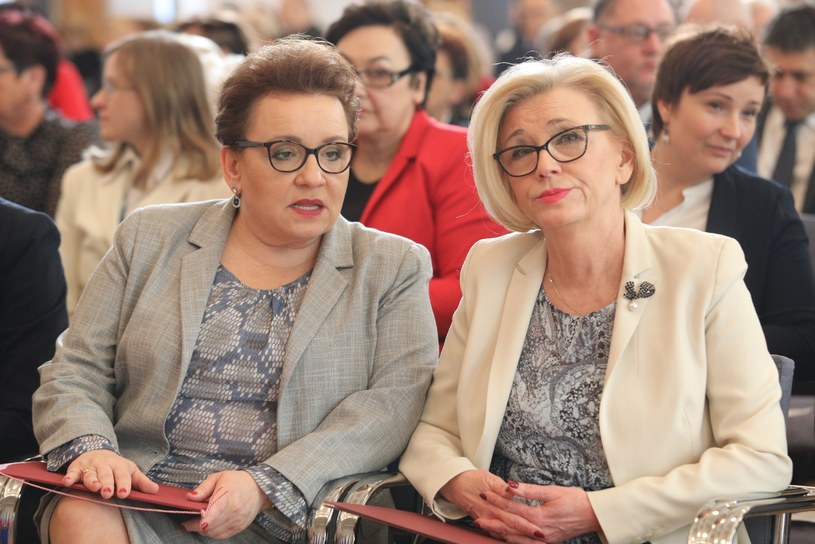 Anna Zalewska i Marzena Machałek /Fot. Tomasz Jastrzębowski/REPORTER /East News