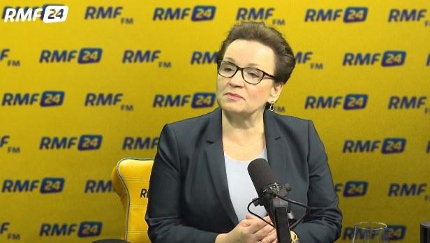 Anna Zalewska, minister edukacji narodowej. Fot. Karolina Bereza /RMF