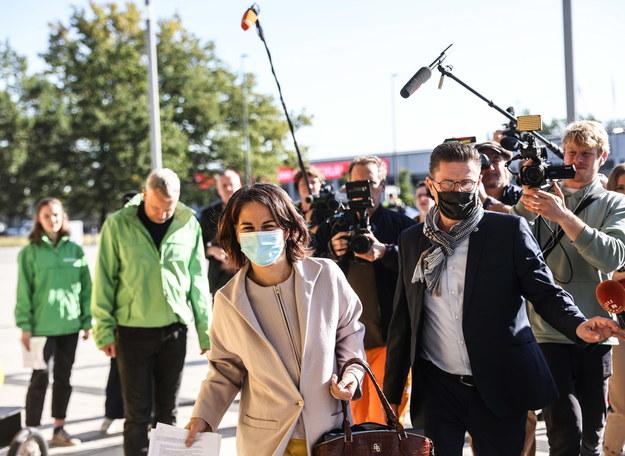 Annalena Baerbock przed rozmowami koalicyjnymi /FILIP SINGER /PAP/EPA