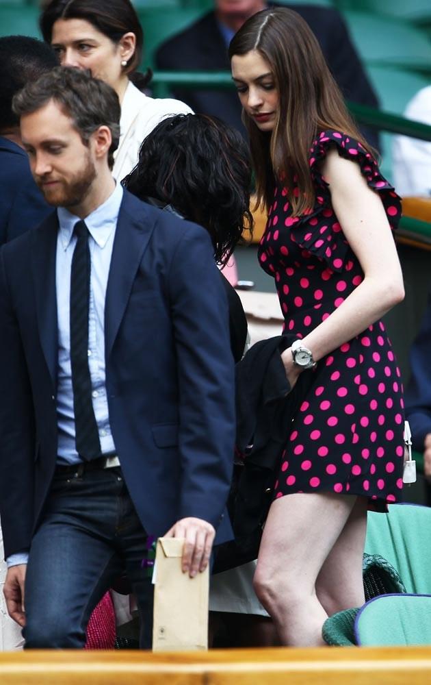 Anne Hathaway, Adam Shulman  /Julian Finney /Getty Images