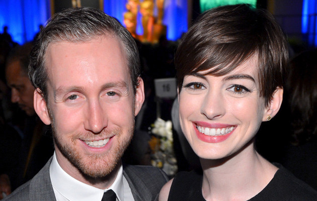 Anne Hathaway z mężem /Alberto E. Rodriguez /Getty Images