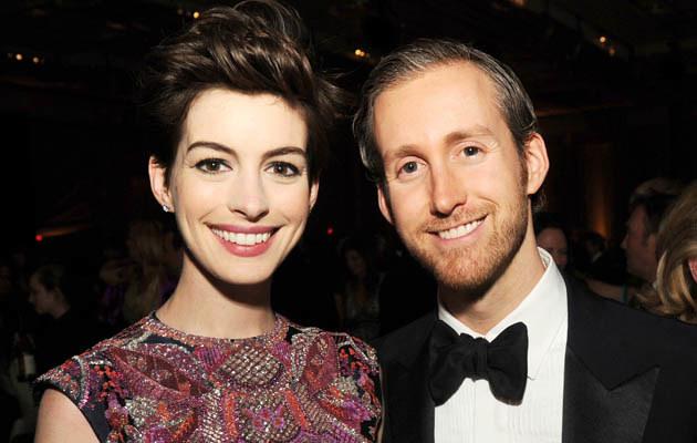 Anne Hathaway z mężem /Kevin Winter /Getty Images
