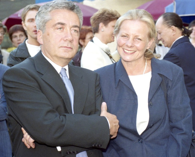 Anne Nehrebecka i Iwo Byczewski w 1999 roku /Zenon Zyburtowicz
