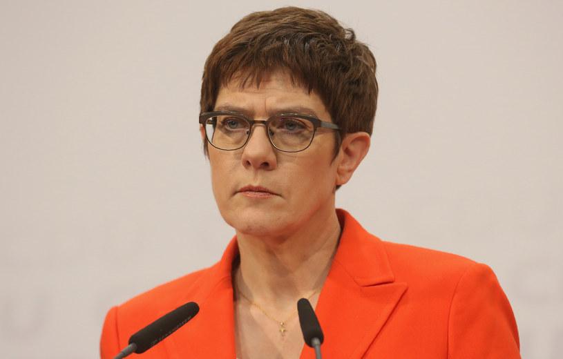 Annegret Kramp-Karrenbauer nie będzie ubiegać się o urząd kanclerza /Adam Berry /AFP