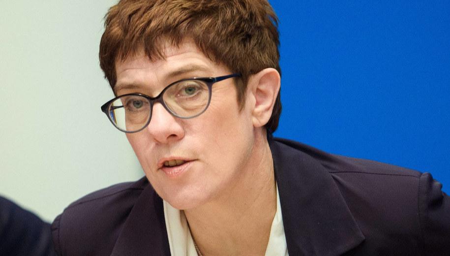Annegret Kramp-Karrenbauer /PAP/DPA/Gregor Fischer /PAP/EPA