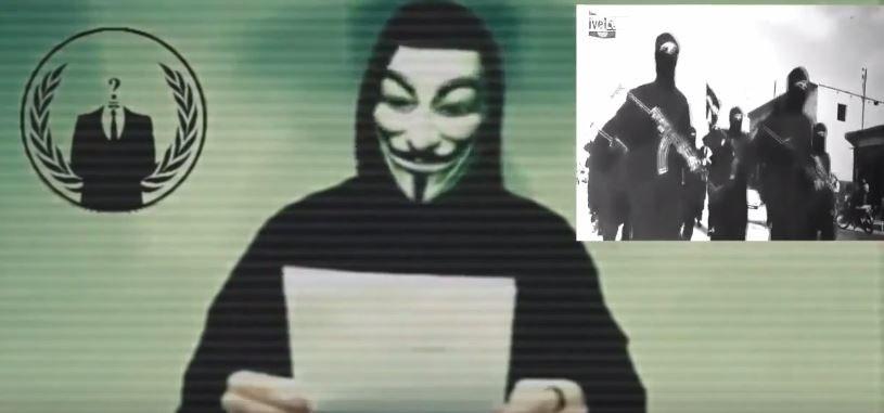 Anonimowi po raz kolejny wypowiadają wojnę Państwu Islamskiemu. Fot. Kanał youtube'owy Anonymous Official /YouTube