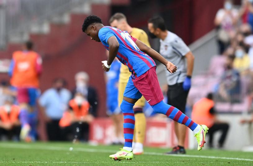 Ansu Fati wrócił do gry po 10 miesiącach i zdobył bramkę /David Ramos /Getty Images