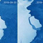 Antarktyda: Ważąca 315 mld ton góra lodowa oderwała się od lodowca szelfowego