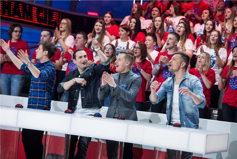 Antek Królikowski, Michał Koterski, Rafał Mroczek i Marcin Liber Piotrowski /Jan Bogacz /TVP