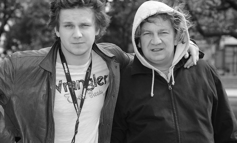 Antek Królikowski z ojcem Paweł Królikowskim /Andras Szialgyi /MWMedia