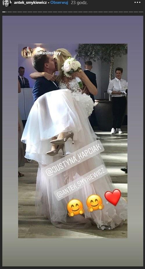 Antek Smykiewicz z żoną Justyną /Instagram/Antek Smykiewicz  /Instagram