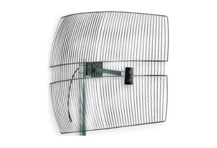Antena siatkowa podobnie jak antena paraboliczna skupia sygnał w jednym punkcie. /Next