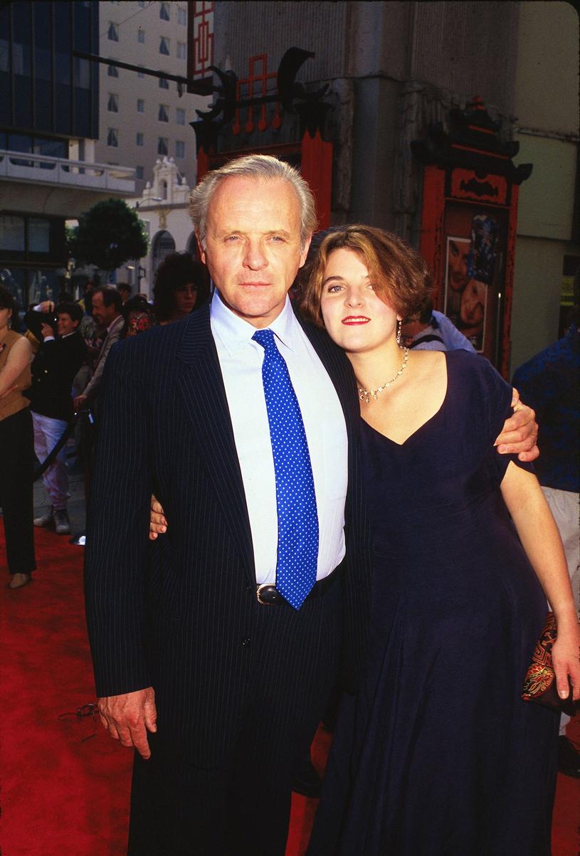 Anthony Hopkins w 1991 roku z córką Abigail /LFI/Photoshot/REPORTER /East News