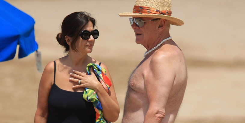 Anthony Hopkins z żoną /Splashnews /East News