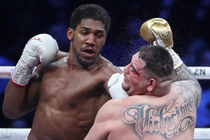 Anthony Joshua w walce z Andym Ruizem juniorem /Walery Szarifulin /Getty Images