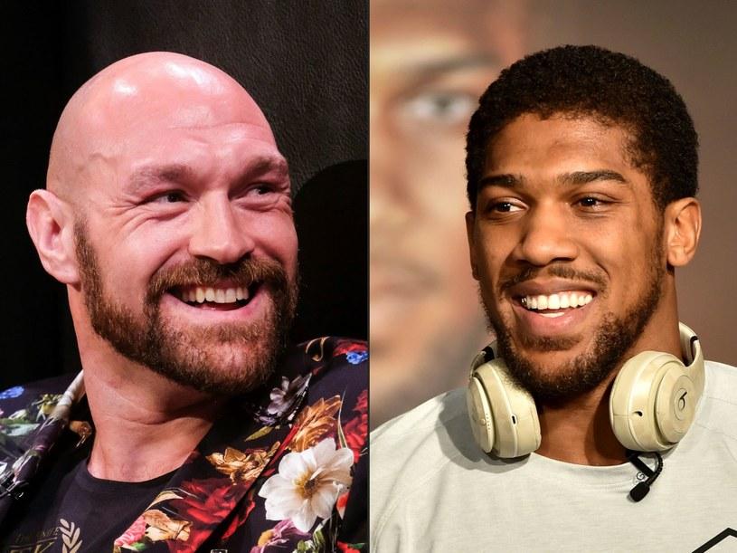Anthony Joshua (z prawej) i Tyson Fury /AFP