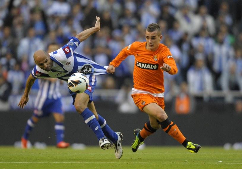 Antoine Griezmann, napastnik Real Sociedad (z prawej) /AFP