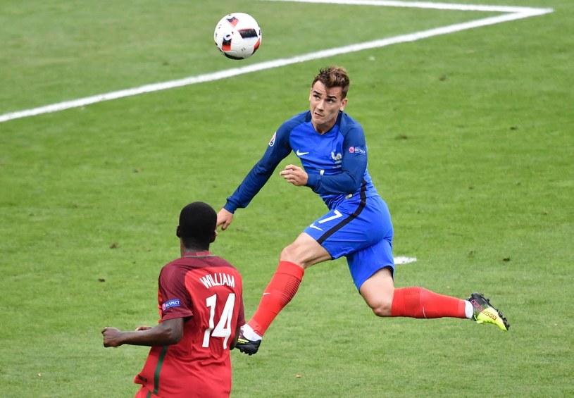 Antoine Griezmann w meczu z Portugalią w finale mistrzostw Europy /AFP