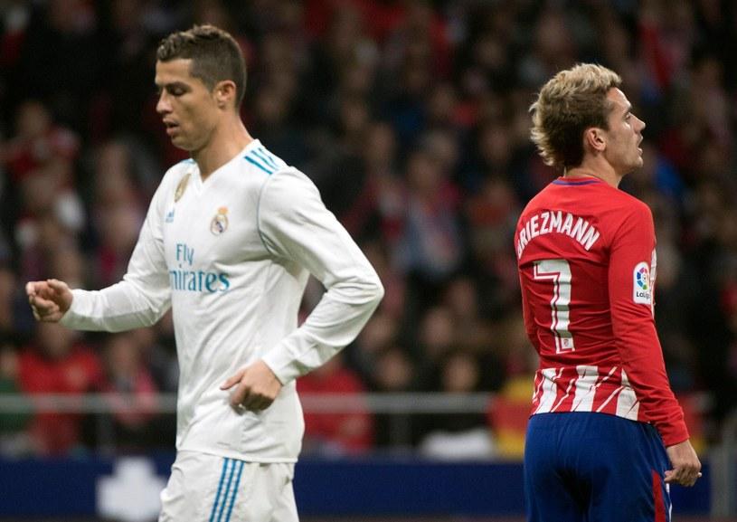 Antoine Griezmann (z lewej), obok Cristiano Ronaldo /AFP