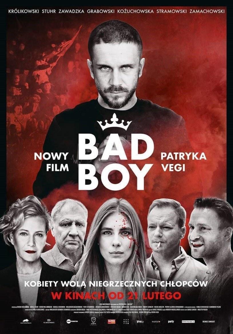 "Antoni Królikowski na plakacie filmu ""Bad Boy"" /materiały dystrybutora"